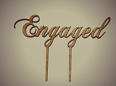 Wooden Rustic Engaged Cake Topper, Bridal Shower, Kitchen Tea, Engagement Party.