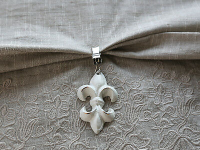 Fleur de Lys Table Cloth Weights, Antique White, Set of 4, Vintage french Style