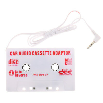 White Car Automobile Cassette Tapes Audio 3.5mm AUX Adapter Inventer for MP4
