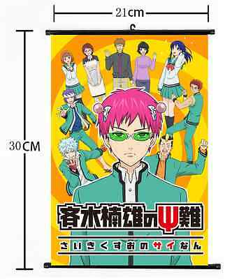 HOT Japan Anime Saiki Kusuo no Sainan Wall Poster Scroll Home Decor Cosplay 1007