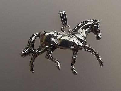 Horse Trot Pendant only Sterling Silver  Zimmer Equestrian Jewelry