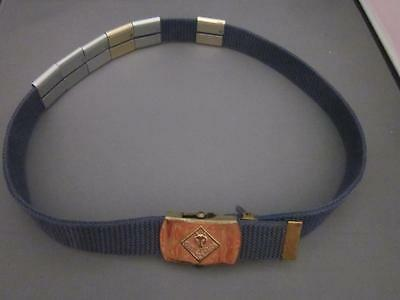 Boy Scouts of America BSA Cub Scout Belt w/ 6 Activity Slides & Brass Buckle
