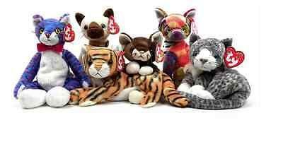 CATS Kittens Ty Beenie Babies Rare Retired Collectable Brand New with Tags