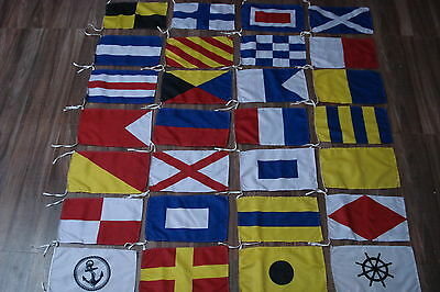 Marine Signaling Flags / Flag- Set of Total 26 flag - Marine Code -Total 28 Flag