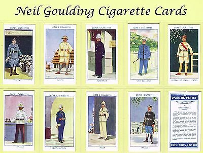 Cope Bros - The World's Police 1937 #1 to #25 Cigarette Cards