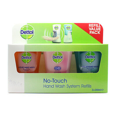 Dettol No Touch Hand Wash Refills 250ml 3 Pack