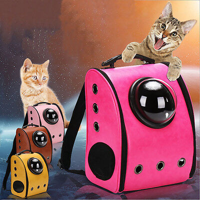 New Cat Pet Astronaut Capsule Backpack Transparent Breathable Carrier Travel Bag