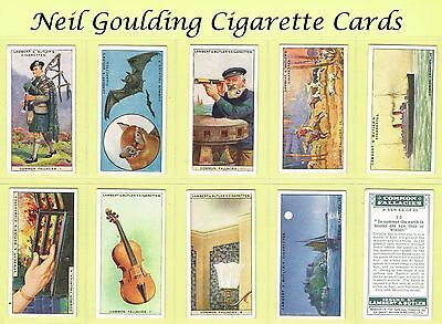 Lambert & Butler - Common Fallacies 1928 #1 to #25 Cigarette Cards