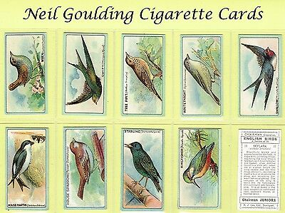 Lea - English Birds (Glossy) 1922 #1 to #25 Cigarette Cards