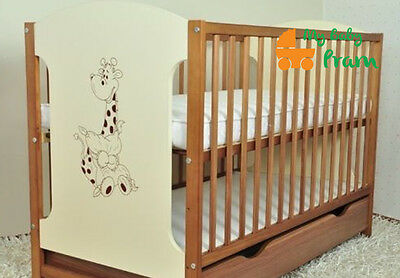 BABY COTS WITH DRAWER/BABY BED/COT BEDS 4 MODELS MIKI SIZE 120x60
