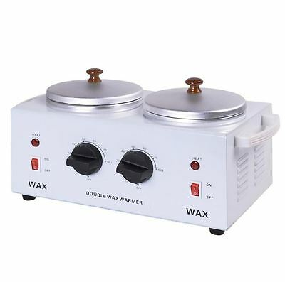 Professional Electric Double Pot Wax Warmer Heater Dual Pro Salon Hot Paraffin