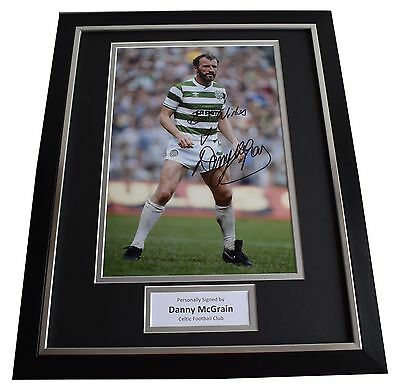 Danny McGrain SIGNED FRAMED Photo Autograph 16x12 display Celtic Football COA