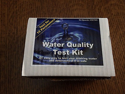 Deluxe Water Quality Test Kit LEAD Pesticides Bacteria 15 Parameters Well Tap
