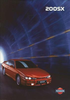 Nissan 200 SX Standard & Touring UK Market Brochure January 1998 28 Pages