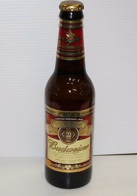 BUDWEISER BEER Beer Bottle 1998 Limited Edition distributor thanks with water