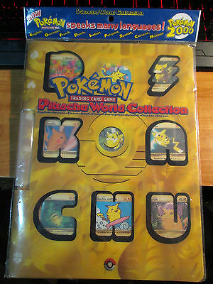 COMPLETE Pokemon PIKACHU WORLD COLLECTION Card Promo Set w/Binder/Folder 2000