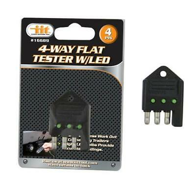 IIT 4 Way Flat LED Tester Trailer Lights Towing Test Tools 16689