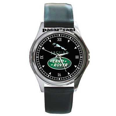 NEW JAGUAR LAND ROVER Custom Round Metal Leather Men's Watch Watches