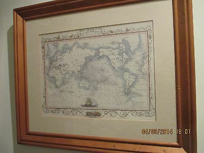 Antique Map Of The World - Tallis