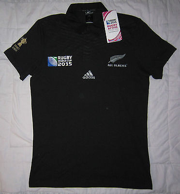 ALL BLACKS Rugby World Cup 2015 Classic Supporters Jersey (Small) – BNWT