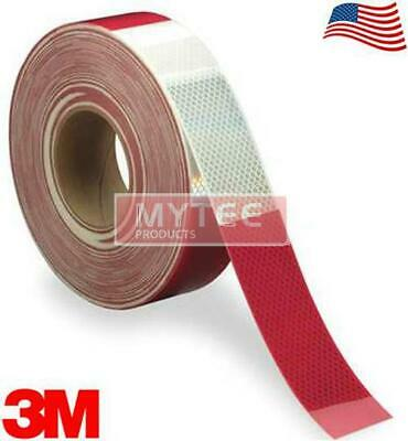 """3M Diamond Rigid 983-326 DOT Conspicuity Tape 6"""" White / 6"""" Red 2"""" x 150' MADE I"""