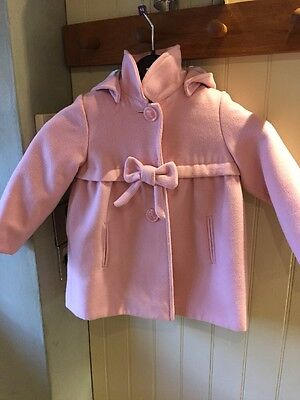 Baby Girls Monsoon Pink Coat Exellent Condition Age 2-3 Years