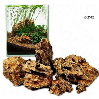 Natural Dragon Stone Asian Style Ohko Rock Aquarium Landscape Decor 80cm Set 7kg