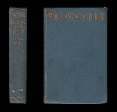Herbert MONS ANZAC and KUT 1914-6 Gallipoli Dardanelles TURKEY Suvla MESOPOTAMIA