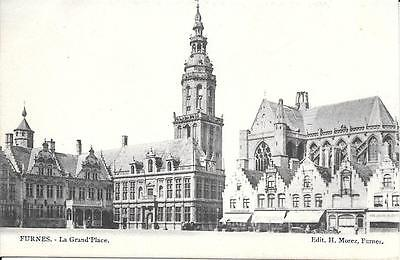 carte postale ancienne furnes la grand'place