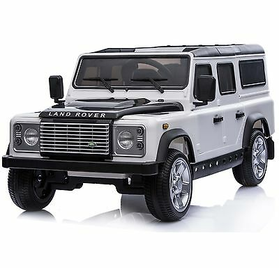 Licensed Land Rover Defender 12v Child's Battery Electric Ride On - White