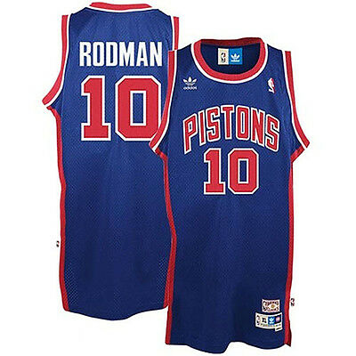 #10 Dennis Rodman Detroit Pistons throwback NBA jersey Mens sizes new with tags!