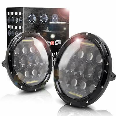 "2X 7"" Inch Led Headlight Angel Eye Halo Motorcycle For Jeep Wrangler JK Daymaker"