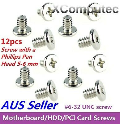 PC Case Screw: 12pcs #6-32 UNC Screw with Phillips Pan Head for HDD Motherboard