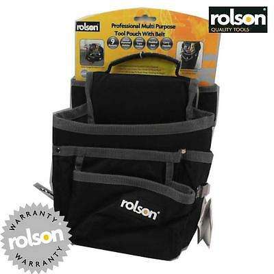 Rolson Professional Multi Purpose Tool Pouch With Belt Plumber Electrician La12