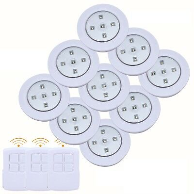 3/6/9pc Wireless Remote Control LED SMD Lights  Battery Operated Under Cabinet