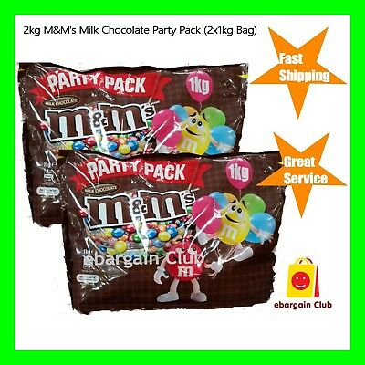 2kg M&M's Milk Chocolate Party Pack Bulk (2x1kg Bag) M&Ms eBargainClub