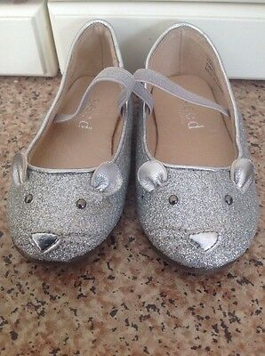 Gorgeous Seed Heritage Infant Silver Mouse Shoes Uk Size 3 Worn Once Great Condi
