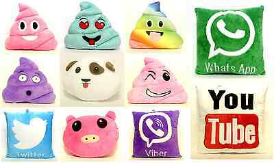 New Emoji Smiley Emoticon Facebook Poo Cushion Pillow Stuffed Plush Soft Toy