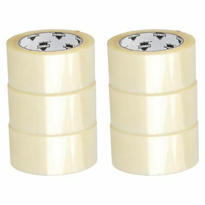 "6 Rolls Clear 2"" X 110 Yards (330') Ft packing Shipping Sealing Box Carton Tape"