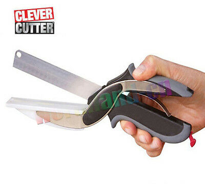 Pro Clever Cutter 2-in-1 Food Chopper Replace your Kitchen Knives and Cutting