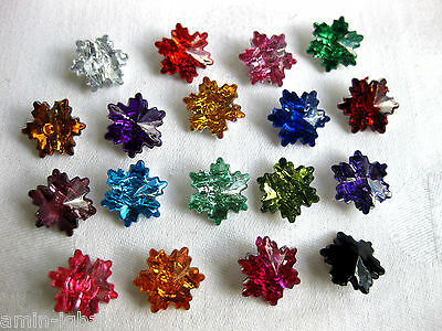 15 Buttons,small Crystals, Plastic,Colour choice,15mm K10