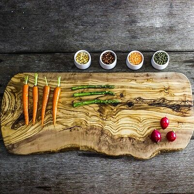 Large Rustic Olive Wood Serving/Carving Board - Length 47 to 53cm (WSCPR50)