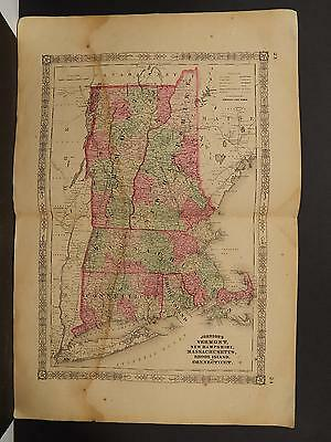 Johnson's Maps, 1864 United States, New England Rhode Island Conneticut O4#11