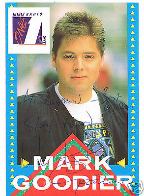 Mark Goodier Radio One Disc Jockey Hand signed Photograph 6 x 4