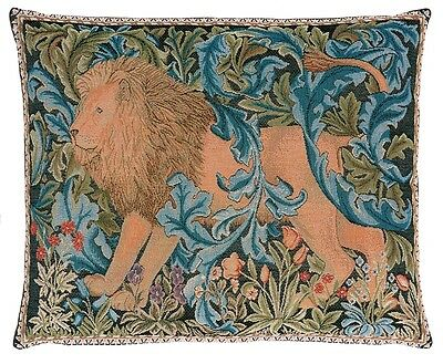 William Morris The Forest II Tapestry Cushion - 48 cm x 38 cm Facing Left