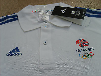 Official Adidas Olympics RIO 2016 Team GB Men's Climalite Polo Shirt (AI9299)