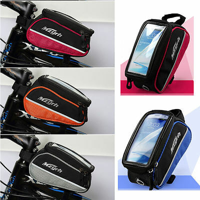New Bicycle Bike Mobile Phone Holder iPhone Frame Pouch Bag Case Carrier Cycle