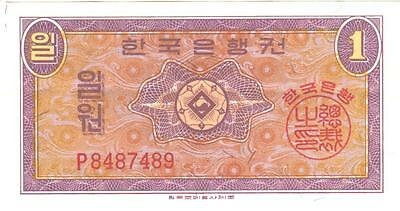 South Korea 1 Won  P Prefix KoreanCurrency Money Bill Note