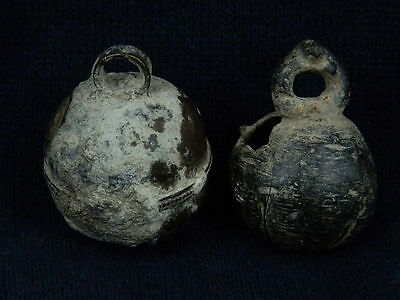 Ancient Bronze 2 Bells Islamic 1400 AD   #SG3124