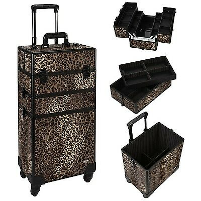 MUA LIMITED Professional Rolling 3 in 1 Makeup Beauty Trolley Makeup Artist Case